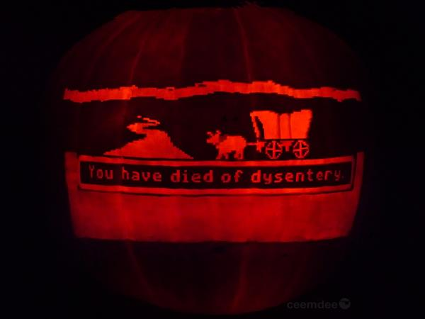 Oregon Trail Jack-O-Lantern