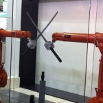 Robots fighting with katanas.  Get ready for Armageddon!