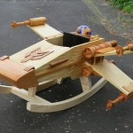 Rocking horses are boring but this Star Wars X-Wing rocker is cool!