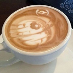 Death Star Latte Art