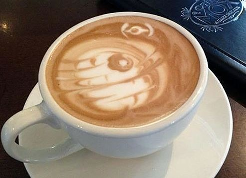 Star Wars Death Star Latte Art