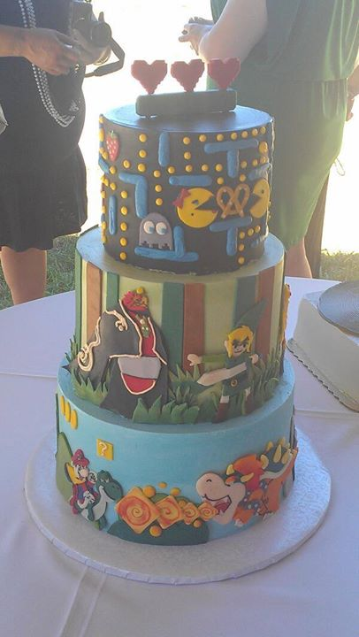Gaming Wedding Cake