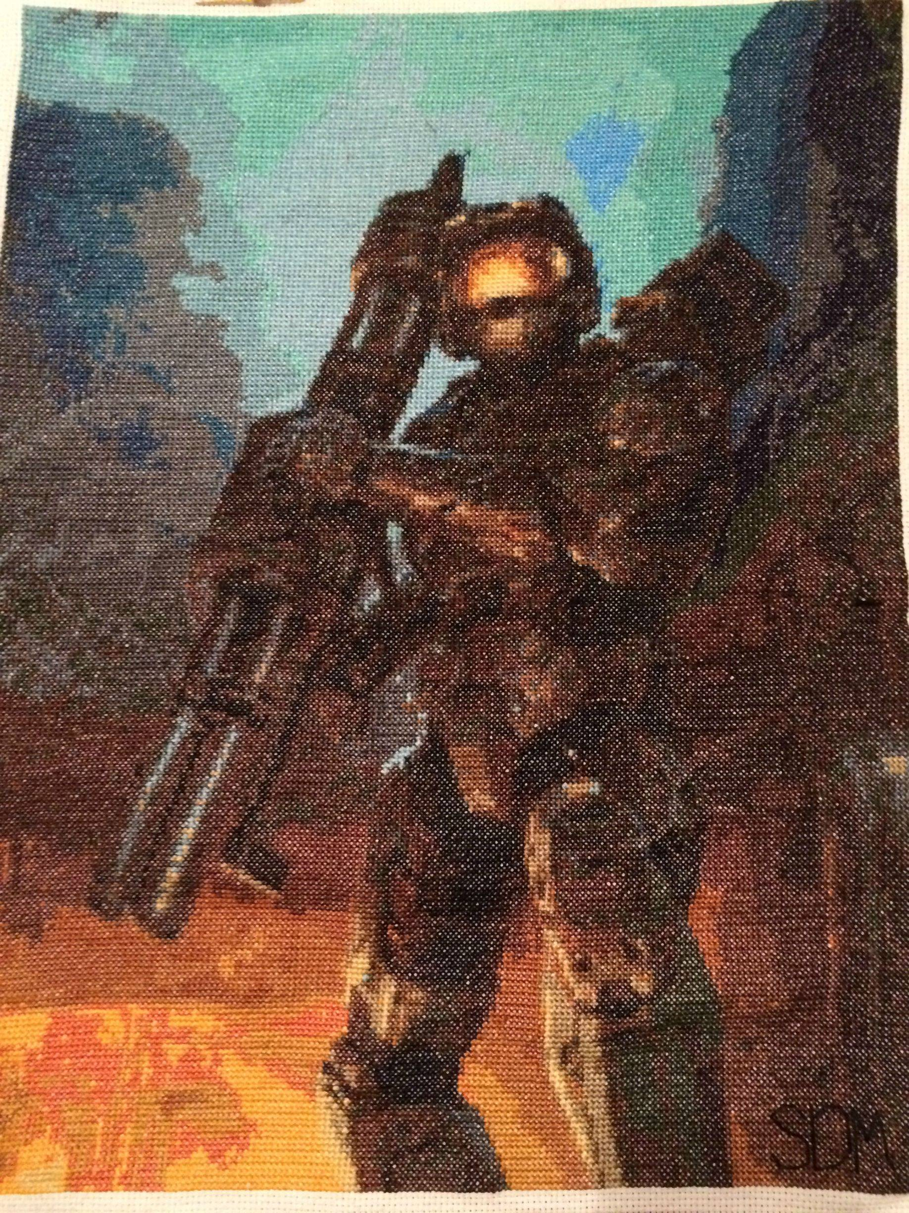 Master Chief Cross-Stitch