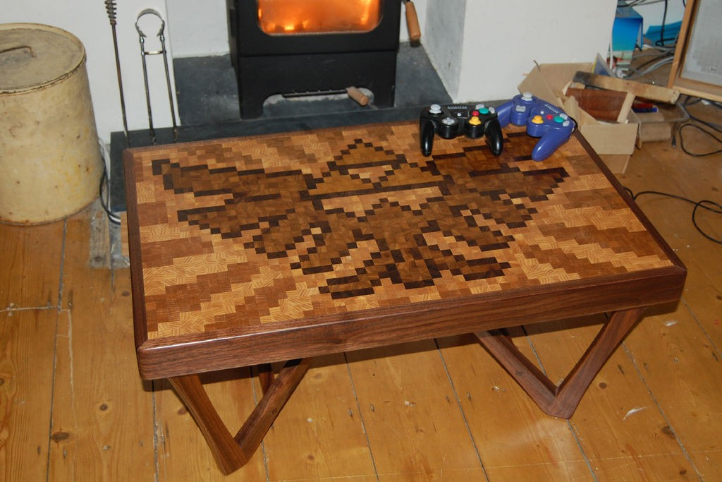 Legend of Zelda Piexel Art Coffee Table