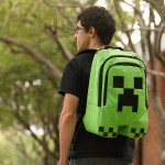 A cool Minecraft Creeper backpack for kids headed back to school!