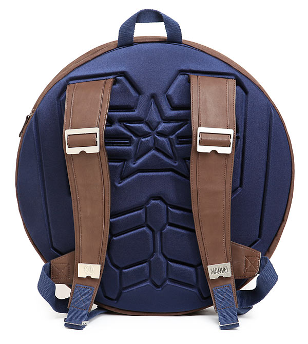Captain America Shield Backpack Back