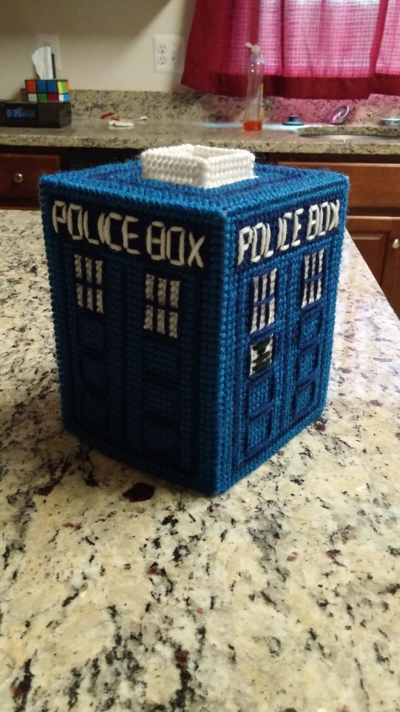 Doctor Who TARDIS Kleenex Box Cover
