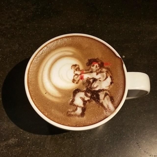Street Fighter Latte Art