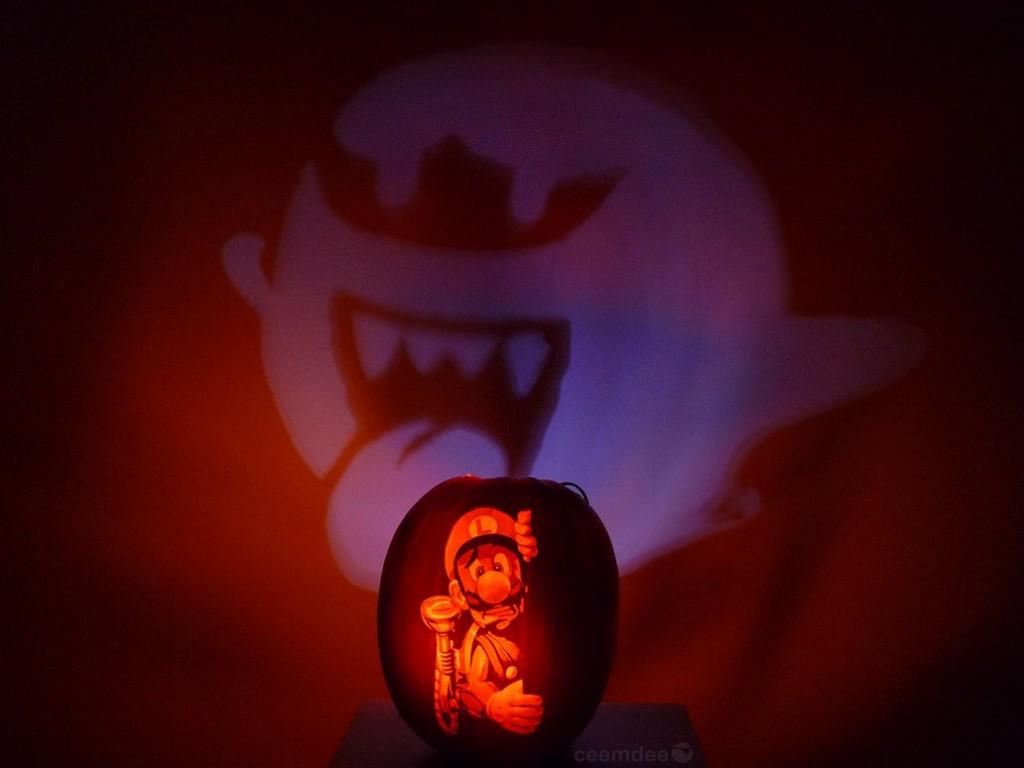 Luigi's Mansion Jack-O-Lantern