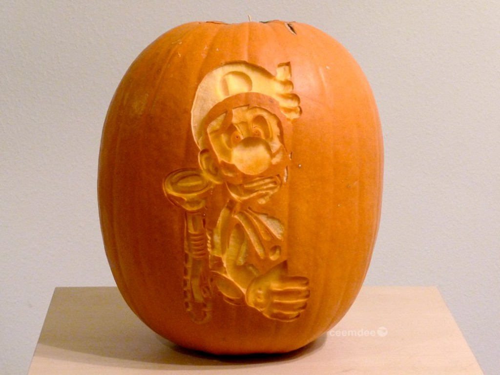 Luigis Mansion Pumpkin Carving