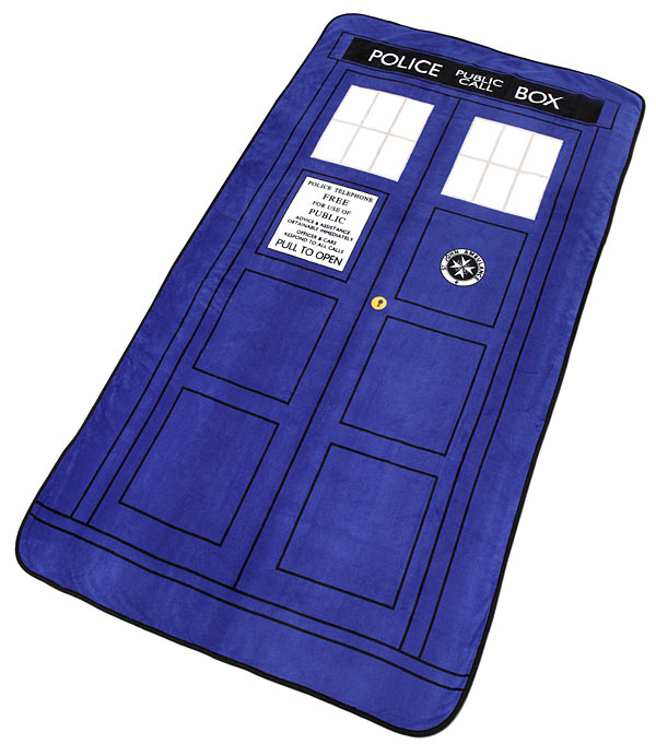 TARDIS Throw Blanket