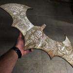 Mind Blowing Batman Batarang Wood Engraving