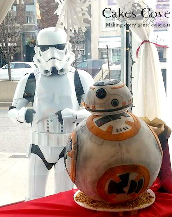 Star Wars: The Force Awakens BB-8 Cake