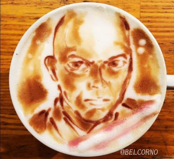 Mace Windu Star Wars Latte Art