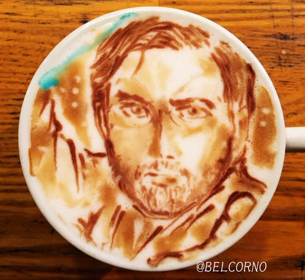 Obi-Wan Kenobi Star Wars Latte Art