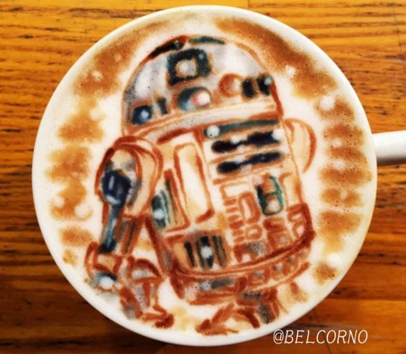 R2-D2 Star Wars Latte Art