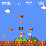 The Super Mario Bros theme music has lyrics.  Yes, really!