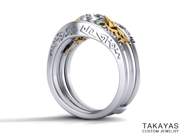 Gate of Time Inspired Legend of Zelda Wedding Ring Global Geek News