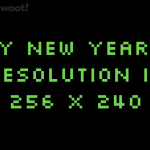 Happy New Year!  What are your geeky resolutions?