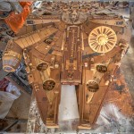 Wood Artist Creates Giant Millennium Falcon From 3000 Pieces of Wood