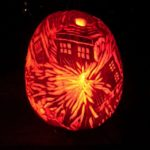 Fantastic Exploding TARDIS Pumpkin