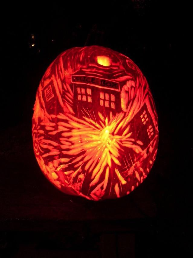 Exploding TARDIS Pumpkin