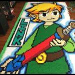 Legend of Zelda: Wind Waker Dominoes Run Made With 78,175 Dominoes
