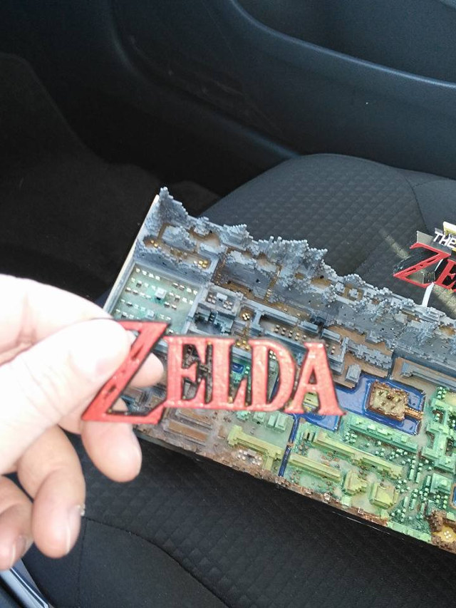 Legend of Zelda 3D Printed Map