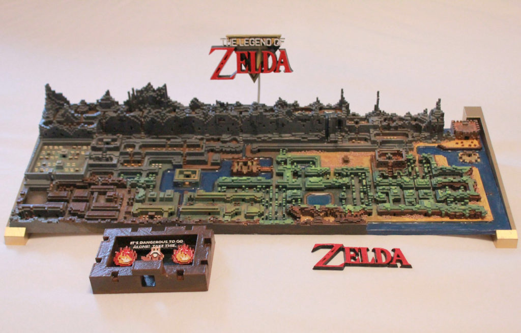 Legend of Zelda 3D Printed Overworld Map