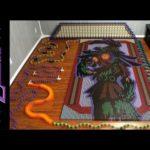 Legend of Zelda Majora's Mask Dominoes Run Made With 67,507 Dominoes!