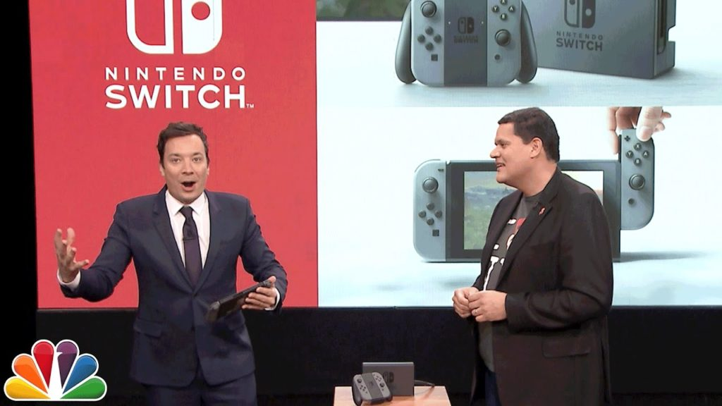 Super Mario Run and Legend of Zelda Breath of the Wild on Nintendo Switch on Jimmy Fallon