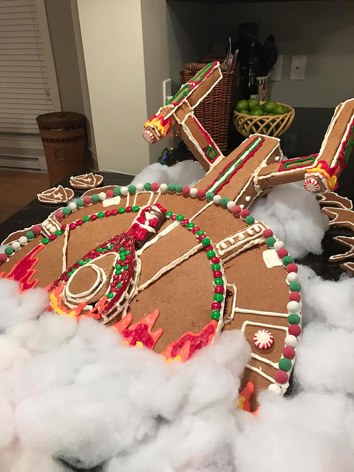 Star Trek Enterprise Gingerbread Ship