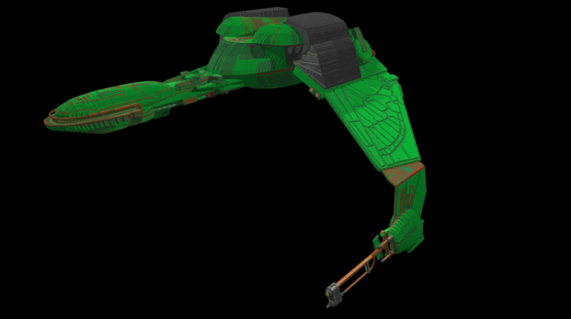 LEGO Klingon Bird of Prey Blueprint
