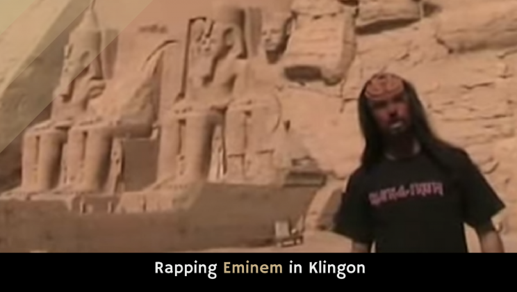 Rapping Eminem in Klingon