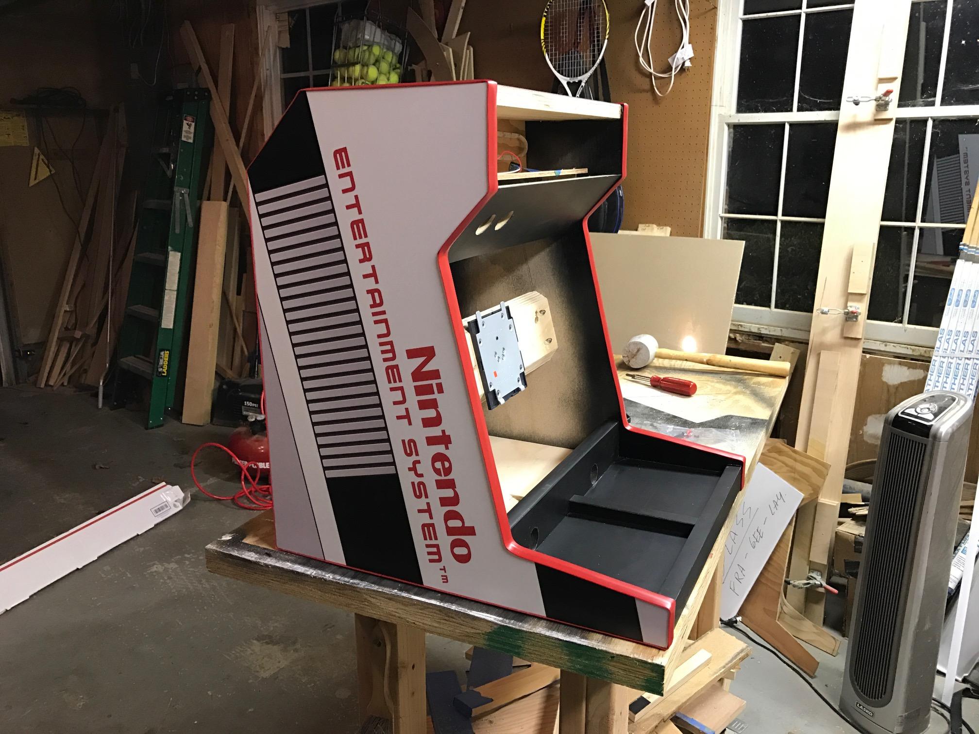 NES Bartop Arcade Cabinet
