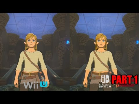 Legend of Zelda: Breath of the Wild Wii U vs Switch Comparison Videos