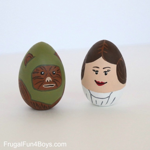 Wicket Ewok Easter Egg and Princess Leia Easter egg