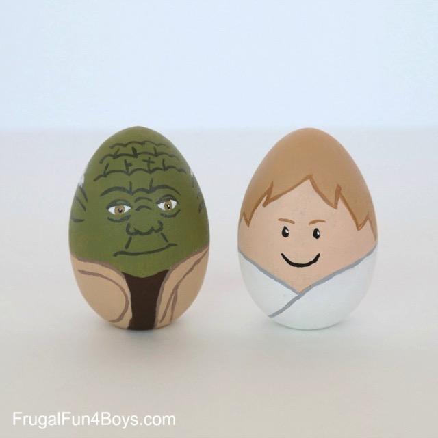 Yoda Easter Egg and Luke Skywalker Easter Egg