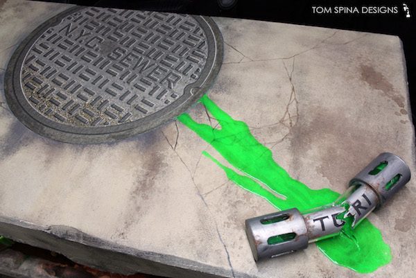 TMNT Custom Sewer Desk