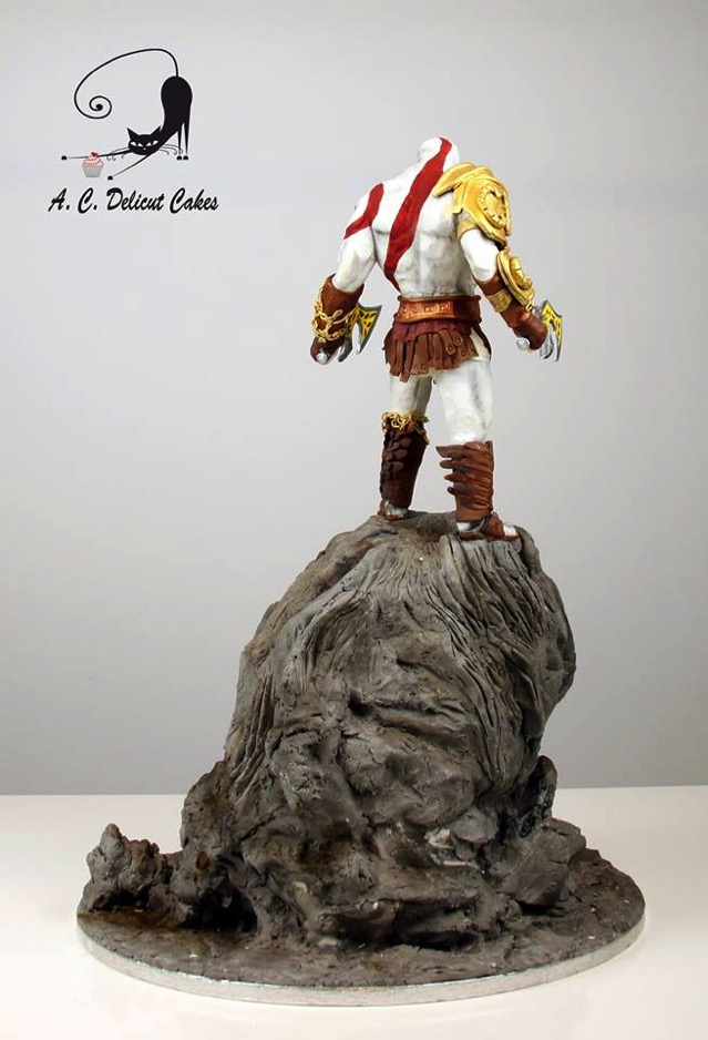 God of War Cake Back