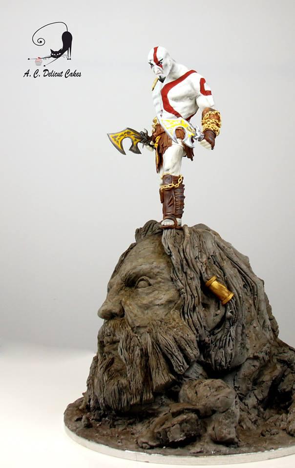 Mind Blowing Kratos God Of War Cake Global Geek News
