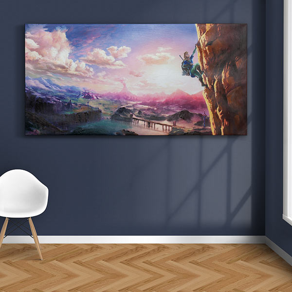 Legend of Zelda Breath of the Wild Oil Canvas