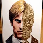 Incredible Two-Face Gun Powder Art