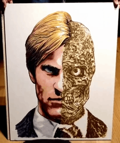 Two Face Gun Powder Art Final
