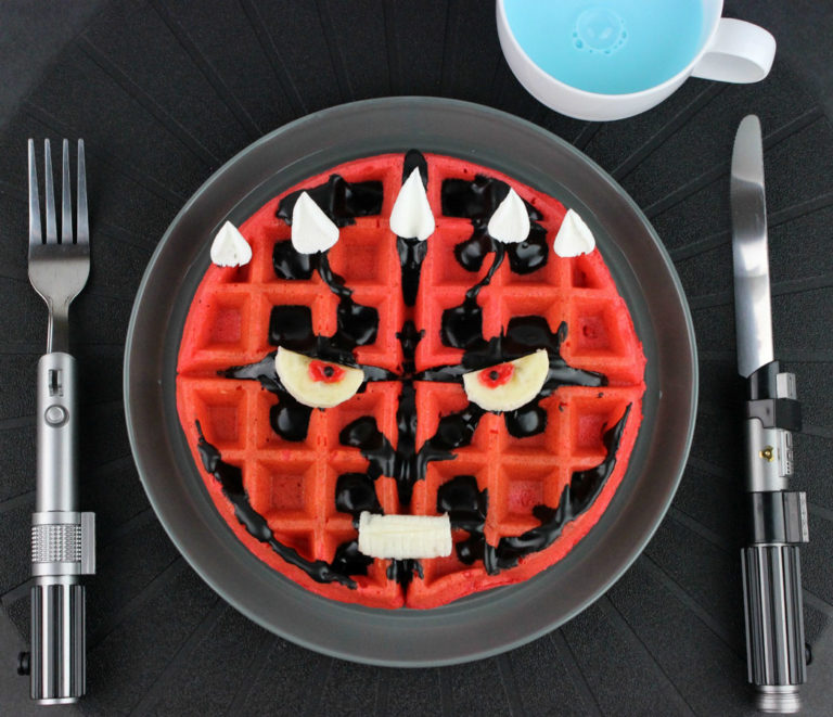 Darth Maul Waffles