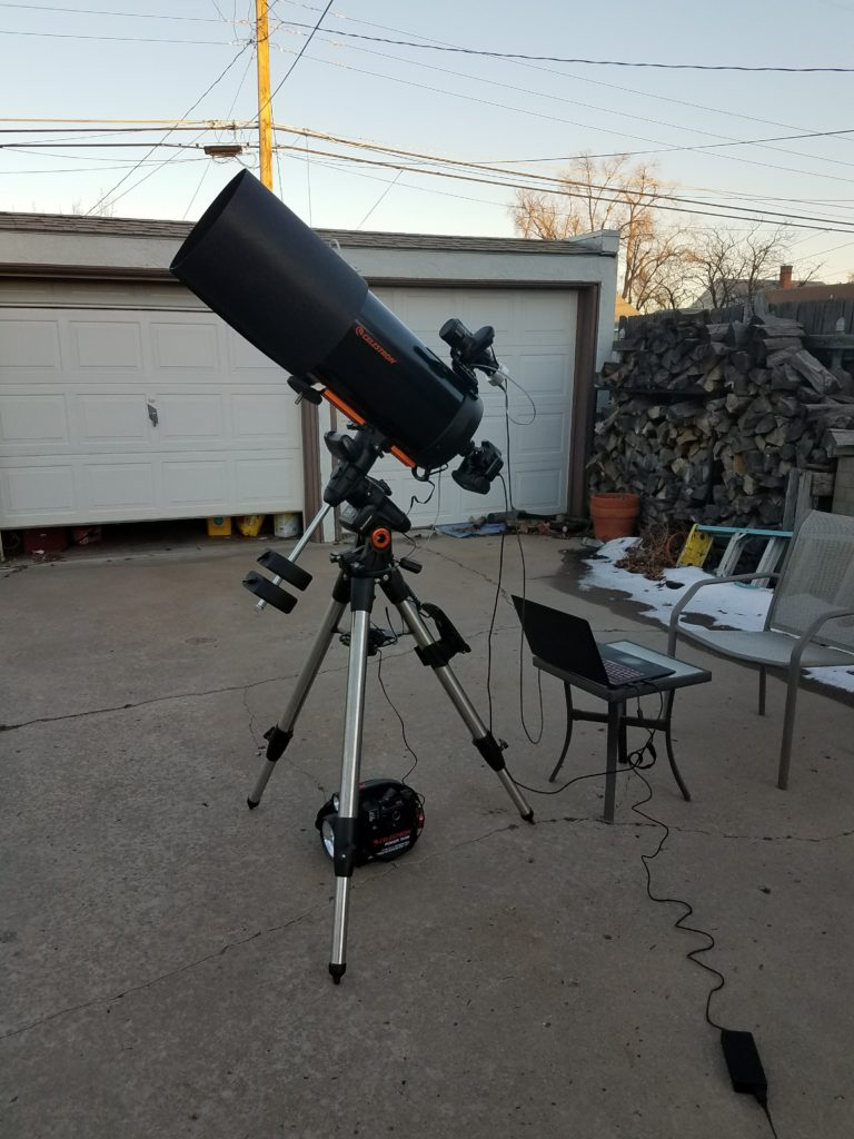 My Celestron C9.25 telescope setup for astrophotography