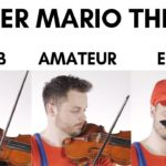 Super Mario Bros Theme Played on Violin at Four Different Skill Levels