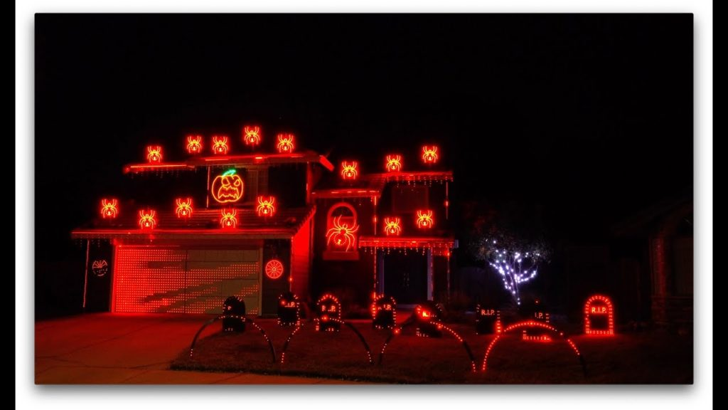 Ghostbusters House Lighting Show