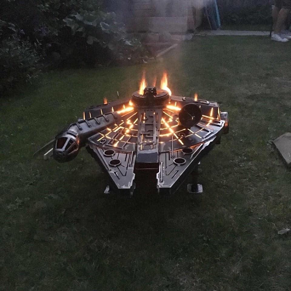 Star Wars Millennium Falcon Fire Pit