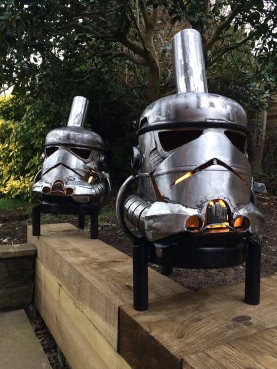Star Wars Storm Trooper Fire Pits